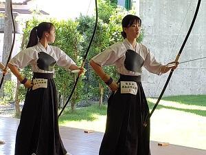 (左)個人3位 花谷碧選手。(右)個人優勝 矢武彩羽選手